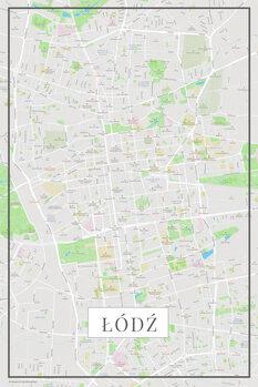 Map Lodz color