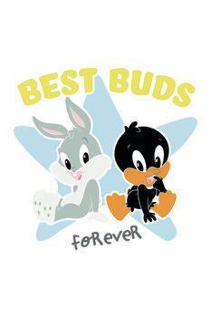 Art Poster Looney Tunes - Best buds