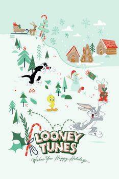 Impressão de arte Looney Tunes - Natal