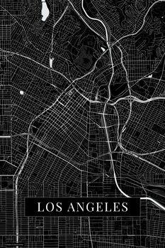 Map Los Angeles black