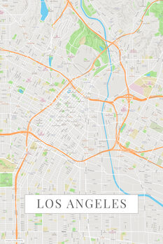 Map Los Angeles color