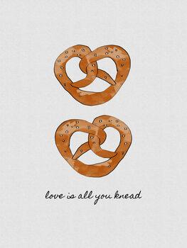 Ilustração Love Is All You Knead