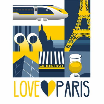 Taidejuliste Love Paris