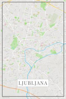 Map Lubljana color