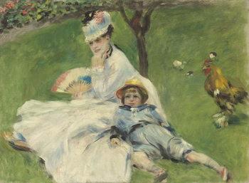 Reprodução do quadro Madame Monet and Her Son, 1874