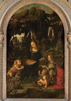 Reprodução do quadro Madonna of the Rocks, c.1478
