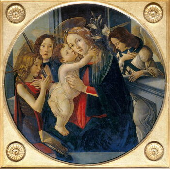 Fine Art Print Madonna with Child, young St. John the Baptist and angels