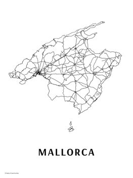 Map Mallorca black & white