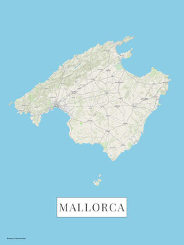 Map Mallorca color