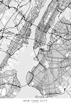 Mapa Map of New York City in scandinavian style