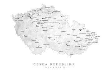Map Map of the Czech Republic with provinces
