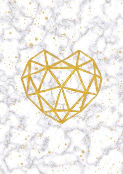 Illustration Marble Heart