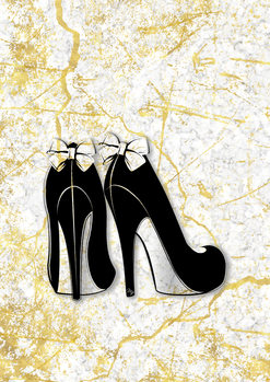 Illustration Marble Heels