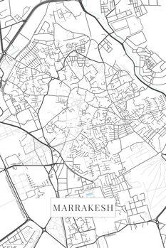 Map Marrakech white