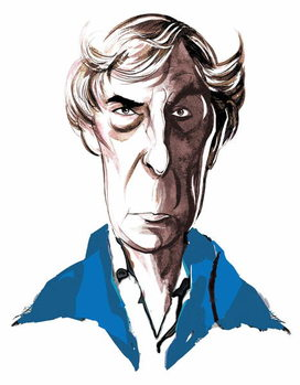 Taidejuliste Michael Tippett, British composer , colour caricature