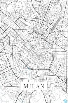 Map Milan white