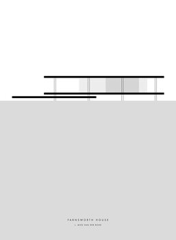 Illustration Minimal Farnsworth house illustration