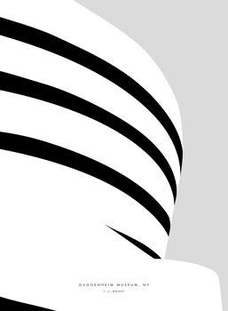 Illustration Minimal Guggenheim museum NY illustration