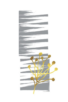 Illustration Minimalist spring awakening no. 2