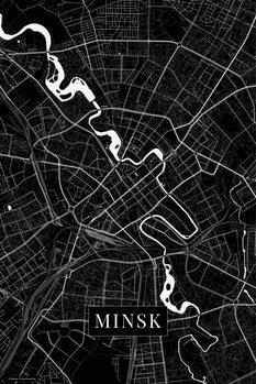 Map Minsk black
