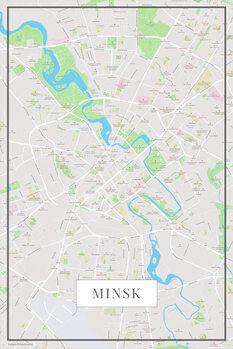 Map Minsk color