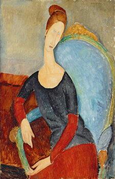 Fine Art Print Mme Hebuterne in a Blue Chair