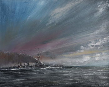 Fine Art Print Moltke enters skagerrak, 2014,