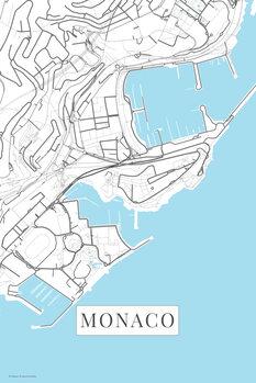 Kartta Monaco white
