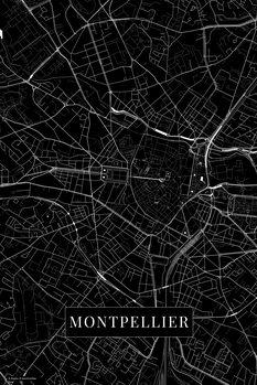Map Montpellier black