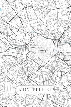 Map Montpellier white