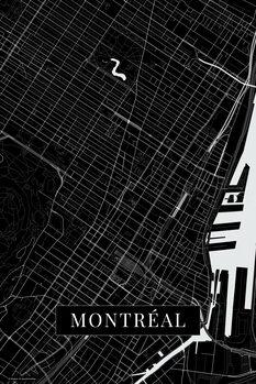Map Montreal black