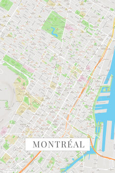 Map Montreal color