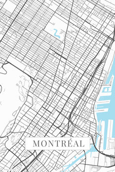 Map Montreal white