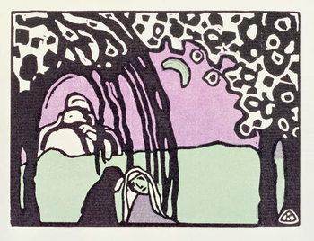 Reprodução do quadro Moonrise, from 'Der Blaue Reiter', 1911