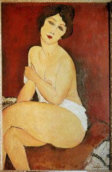 Fine Art Print Naked Woman Seated