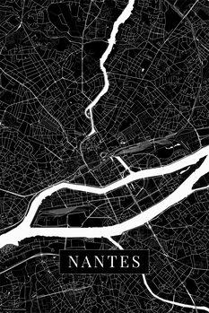 Map Nantes black