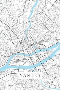 Map Nantes white
