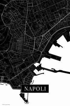 Map Napoli black