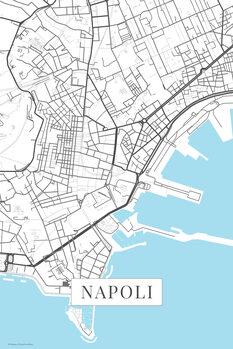 Map Napoli white