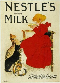 """Fine Art Print Nestle Advertising: """""""" Nestle's swiss milk""""""""."""