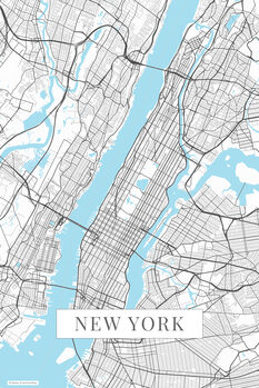 Map New York white