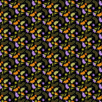 Fine Art Print Night Leaves pattern