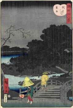 Fine Art Print Night Rain at Makura Bridge, November 1861