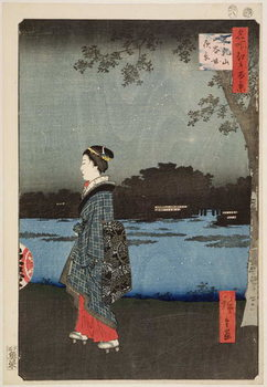 Fine Art Print Night View of Sanya Canal and Matsuchi Hill,