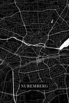 Map Nuremberg black
