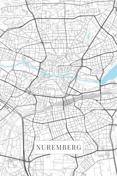 Map Nuremberg white