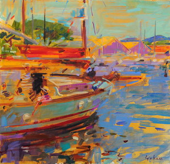 Fine Art Print On Deck, Saint-Tropez