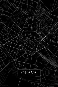 Map Opava black