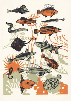 Fine Art Print Orange Seaweed Fish, 2015