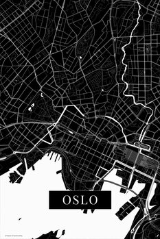 Map Oslo black